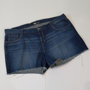 Old Navy denim cut off shorts size 20 Refular